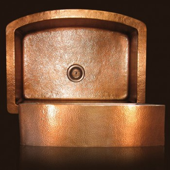 Garden Farmhouse Copper Sink : Flame Patina