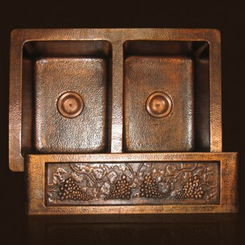 LHSDC32 Copper Farmhouse Sink