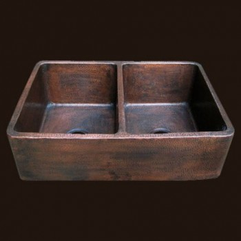 Radiance Farmhouse Double Copper Sink