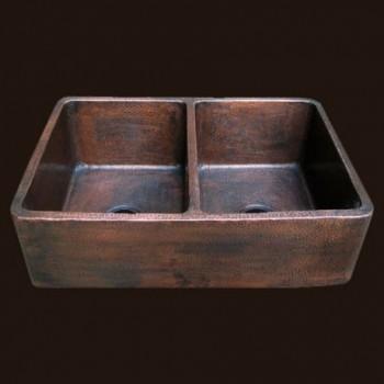 Radiance Farmhouse Double Copper Sink