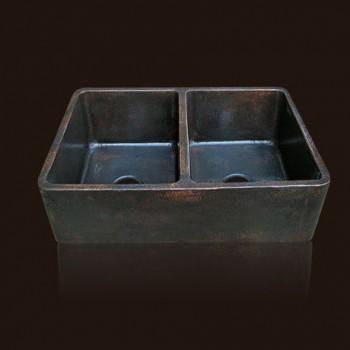 Radiance Farmhouse Copper Sink : Dark Flame